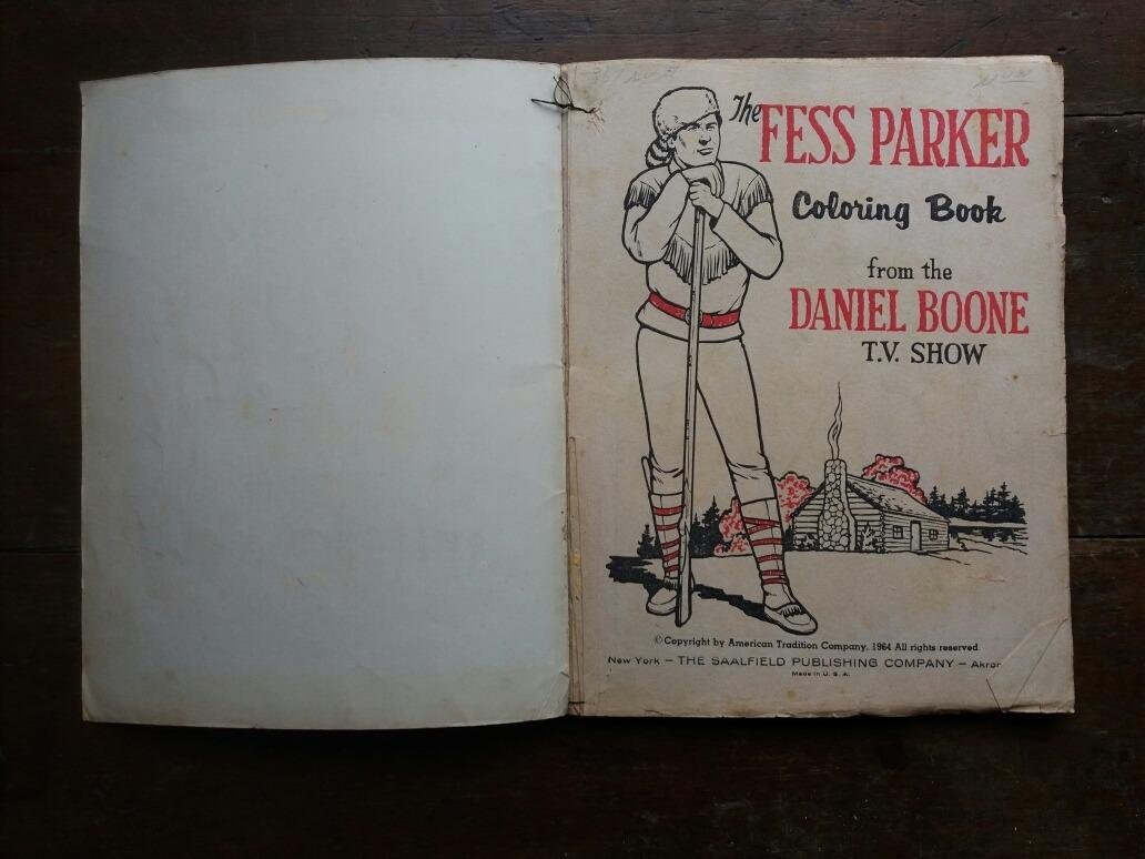 1964 Libro Cuento Niño Colorear Daniel Boone Fess Parker - $ 500,00 ...