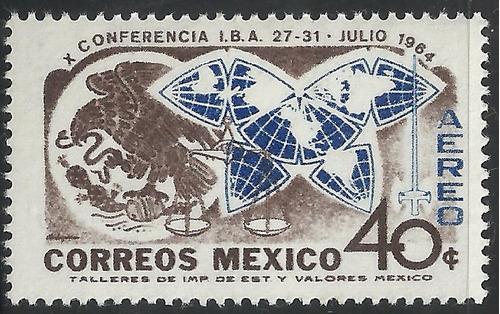 1964 x conferencia internacional d abogados  sc. c299 mnh