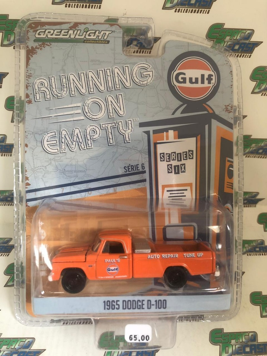 Espacodiecast 1965 Dodge D 100 D100 Gulf R05 Running On Empty Greenlight R 69 95