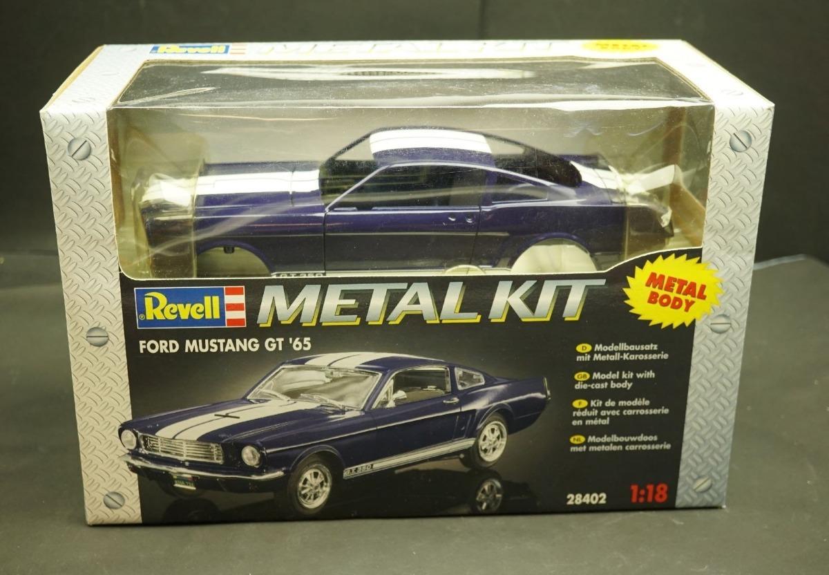 1965 ford mustang gt blue metal kit escala 118 revell cargando zoom