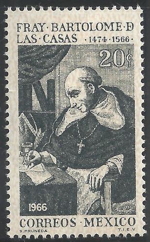 1966 mèxico fray bartolome de las casas sello mint nh