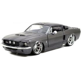 1967 Shelby Gt-500 Matte Dark Grey Metals Jada 1:24