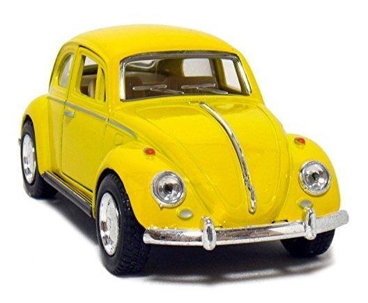 1967classic Die Cast Volkwagen Beetle Juguete Amarillo Con