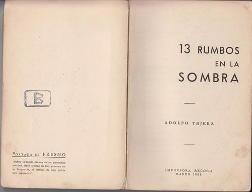 1968 arte geometrico tapa lincoln presno 13 rumbos tejera