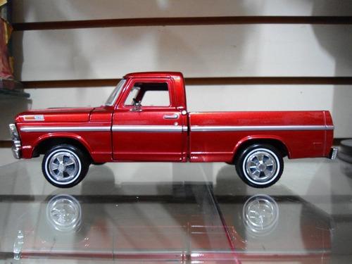 1969 ford f 100 pick up  igual a la argentina  motormax 1/24