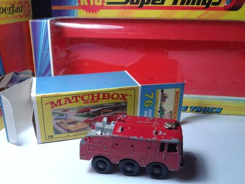 1969 - matchbox lesney bombeiro  + box custom mt02a-