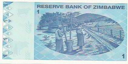 197 - cédula estrangeira - zimbabwe - one dollar