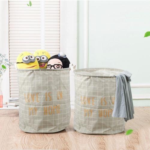 19.7  grande plegable cesta cesta de lavadero de ropa organi