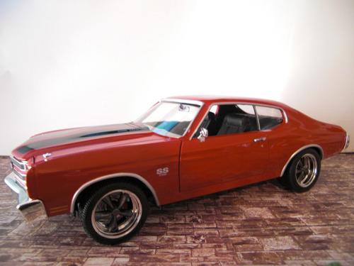 1970 chevy chevelle ss 396 marca auto world escala 1:18