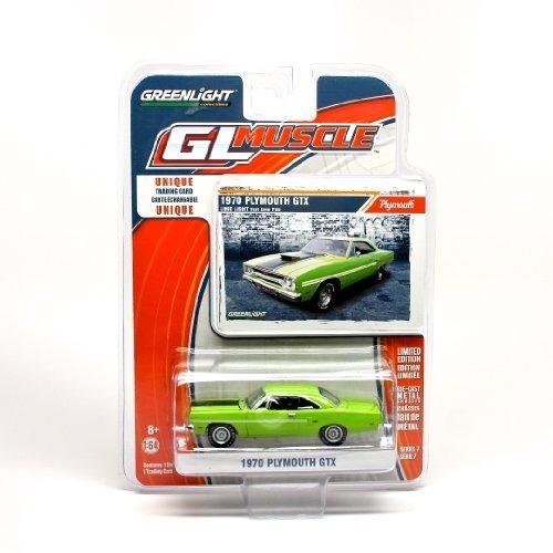 1970 plymouth gtx verde * gl músculo serie 7 * 2014 greenlig