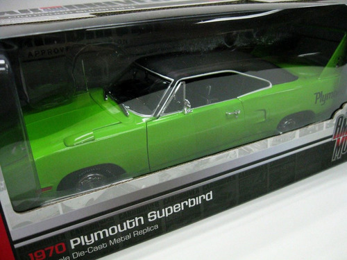 1970 plymouth superbird green edicion magazine  1/18
