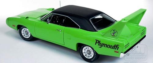 1970 plymouth superbird green edicion magazine  1/18