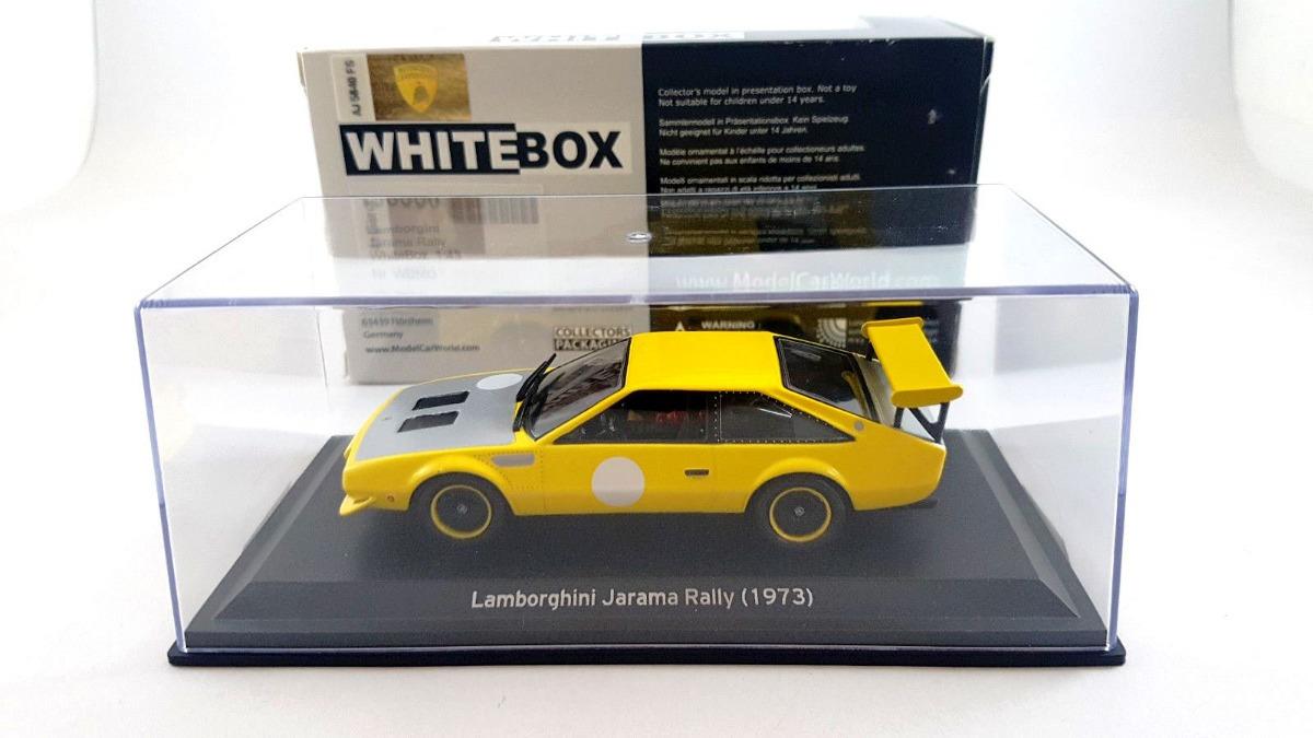 1973 Lamborghini Jarama Rally Yellow Escala 1 43 Whitebox