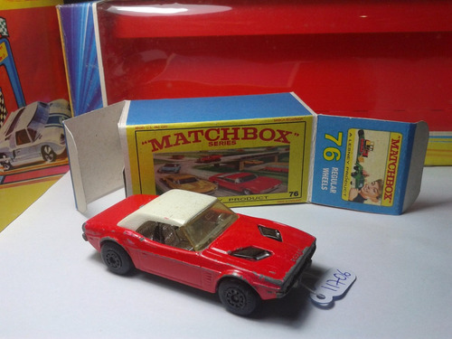1975 matchbox lesney dodge challenger + box custom  mt02a-