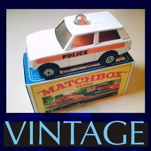 1975 matchbox police + box custom miniatura1/64- nas 01