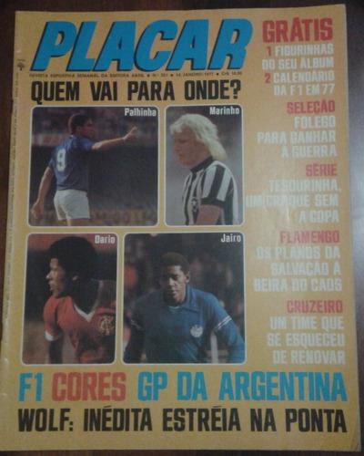 1977 revista placar nº 351 ed abril pôster tabela fórmula 1