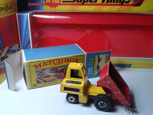 1978 - matchbox lesney city dumper  + box custom mt02a-