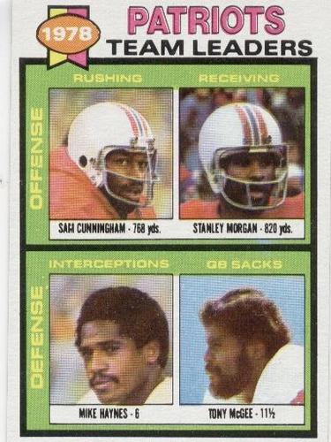 1979 topps patriots team leaders mike haynes