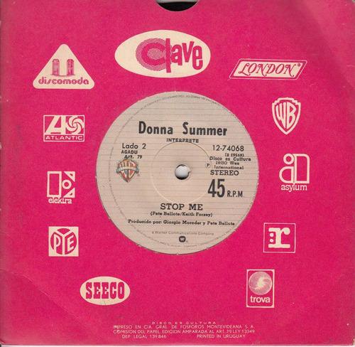 1980 donna summer giorgio moroder uruguay single vinyl promo