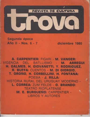 1980 revista cultura trova 6/7 uruguay marosa di giorgio etc