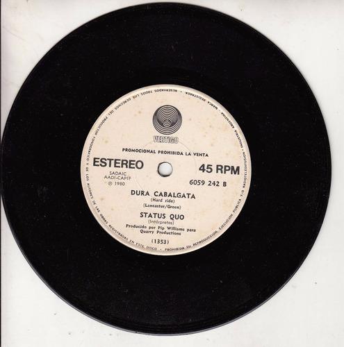 1980 status quo simple vinilo promo argentina vertigo label