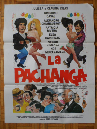1981 la pachanga sexy-comedia julissa orig poster de cine