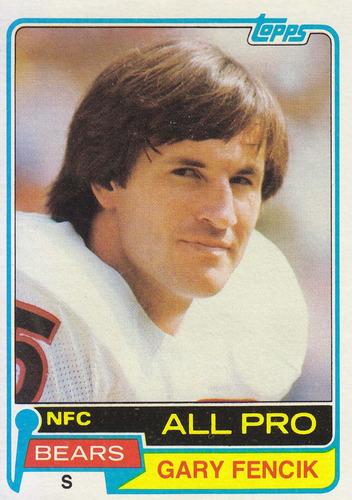 1981 topps all pro gary fencik s bears