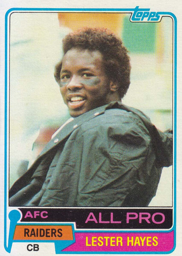 1981 topps all pro lester hayes cb raiders