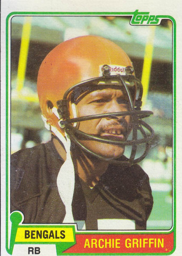 1981 topps archie griffin rb bengals