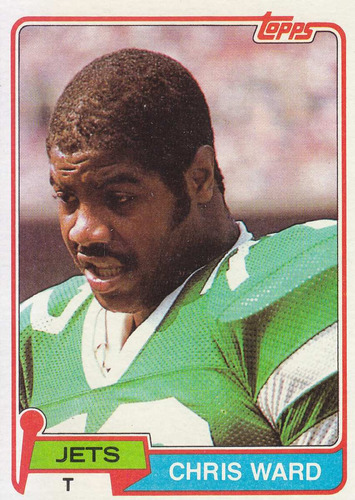 1981 topps chris ward t jets