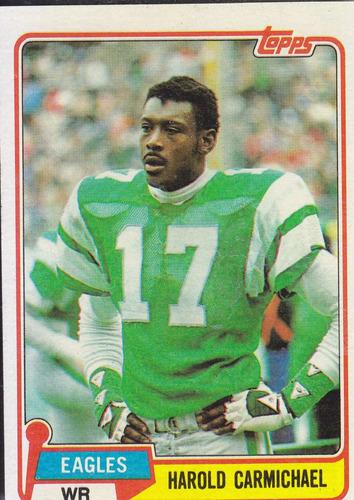 1981 topps harold carmichael wr eagles