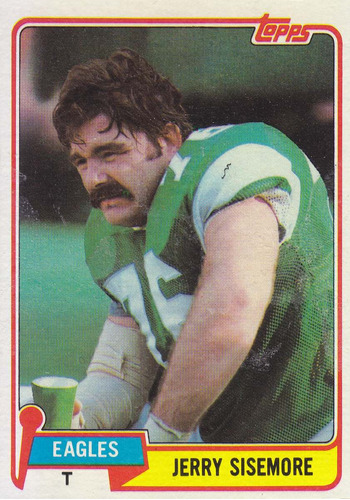 1981 topps jerry sisemore t eagles
