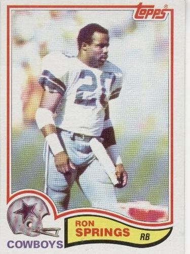 1982 topps ron springs dallas cowboys