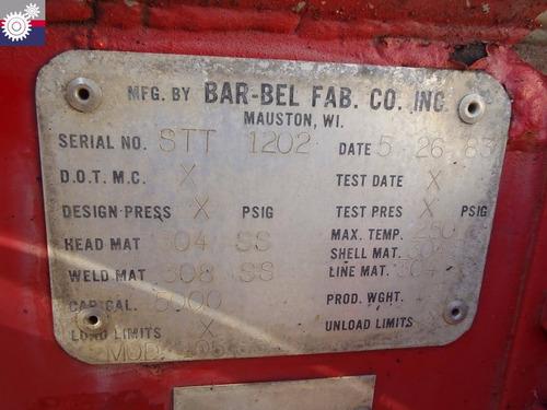 1983 bar-bel 105ss tanque (gm105335)