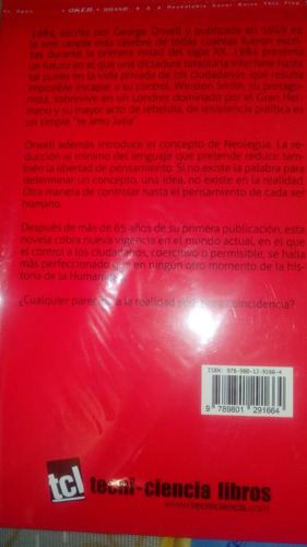 1984. george orwell. tecni-ciencia libros