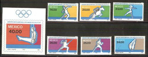 1984 mèxico olimpiadas de verano de los angeles serie mnh.