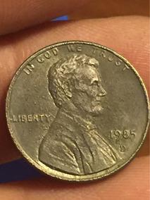 1985 D Linconl One Cent Moneda Error De Acuñado Unplated