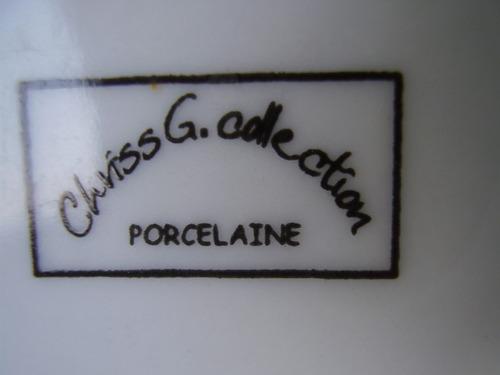 1985 ¿ xicara e pires franceses chriss g. déc 80 porcelana
