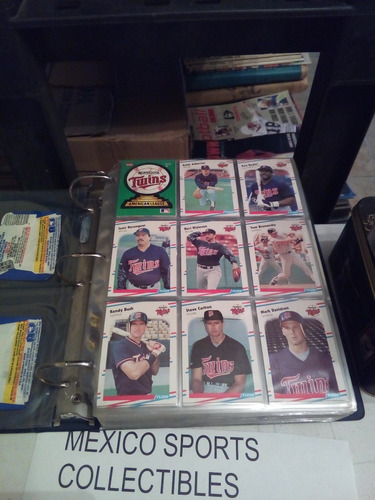 1988 fleer baseball completo 660 tarjetas+ micas y carpeta