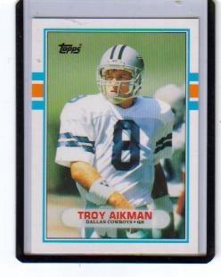 1989 topps traded #70t troy aikman rc vaqueros de dallas