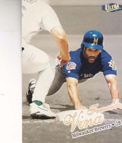 1990 fleer ultra gold medallion fernando viña 2b brewers