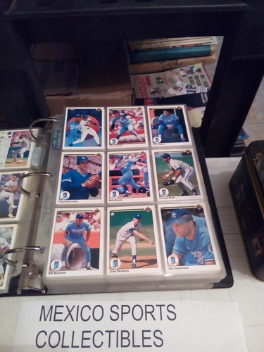 1990 u deck baseball completo 800 tarjetas+ micas y carpeta