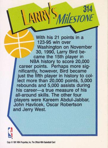 1991-92 hoops milestones larry bird celtics