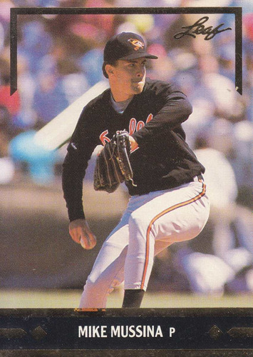 1991 leaf gold rookies mike mussina p orioles