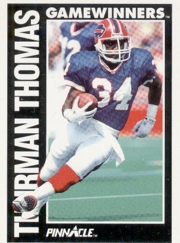 1991 pinnacle game winners thurman thomas bills rb