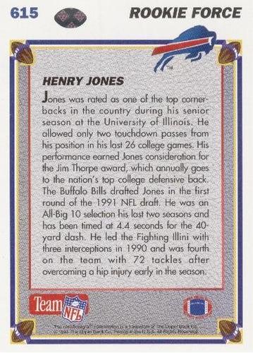 1991 upper deck rookie force henry jones buffalo bills
