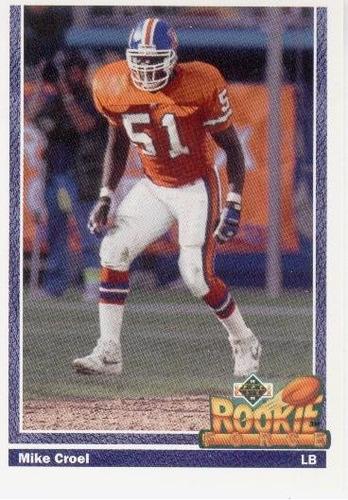 1991 upper deck rookie force mike croel denver broncos lb