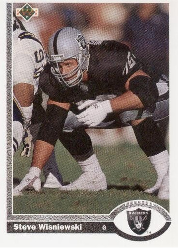 1991 upper deck steve wisniewski los angeles raiders