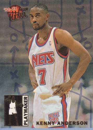 1992-93 fleer ultra playmaker kenny anderson nets