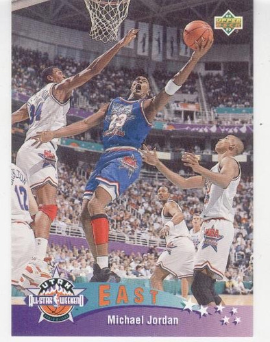 1992 - 93 upper deck all star michael jordan chicago bulls